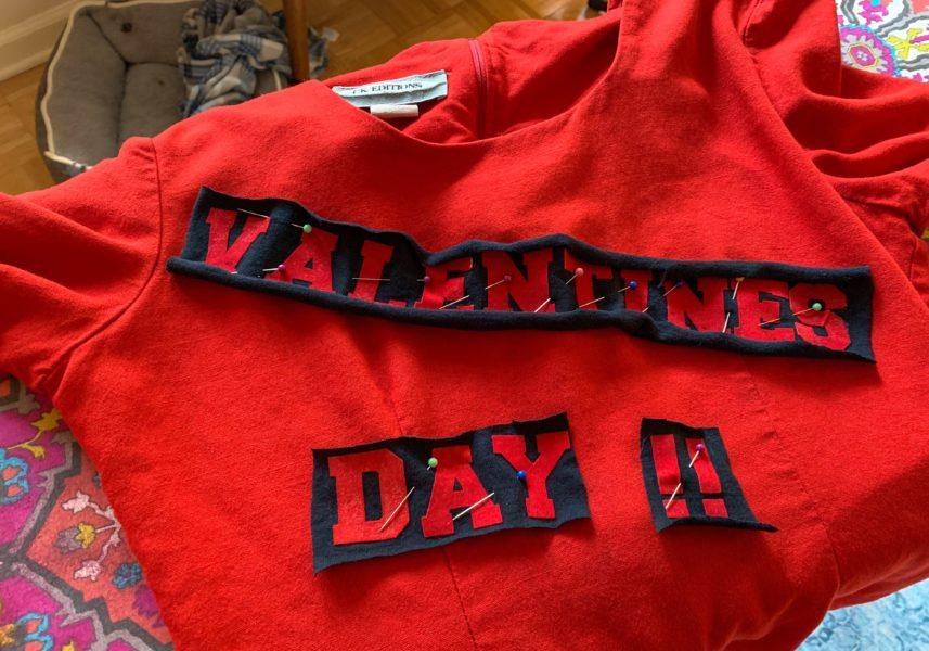 refashionista pinned tshirt letters