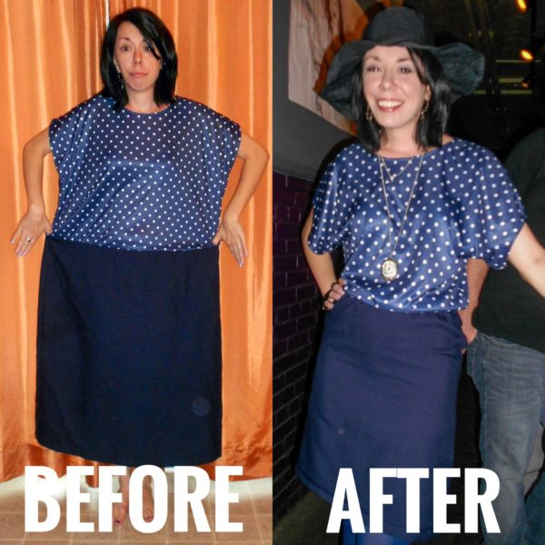 refashionista polka dot dress after