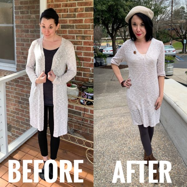 refashionista duster before and after