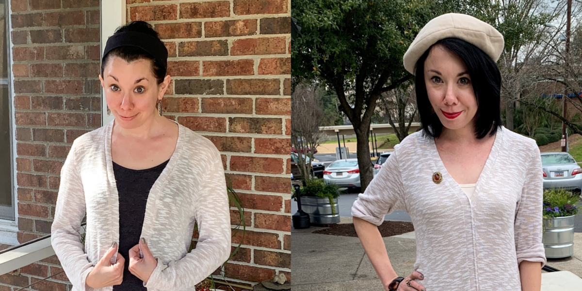 refashionista sweater dress refashion featured image