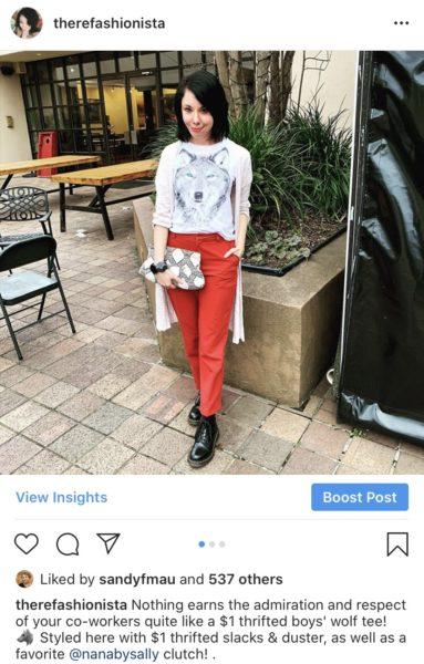 refashionista wolf shirt with duster instagram