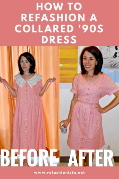 Refashionista '90s Collared Dress Refashion