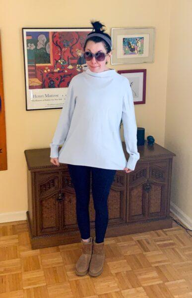 refashionista bowl dye sweater before