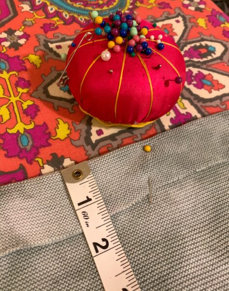 refashionista pinning jar dyed sweater