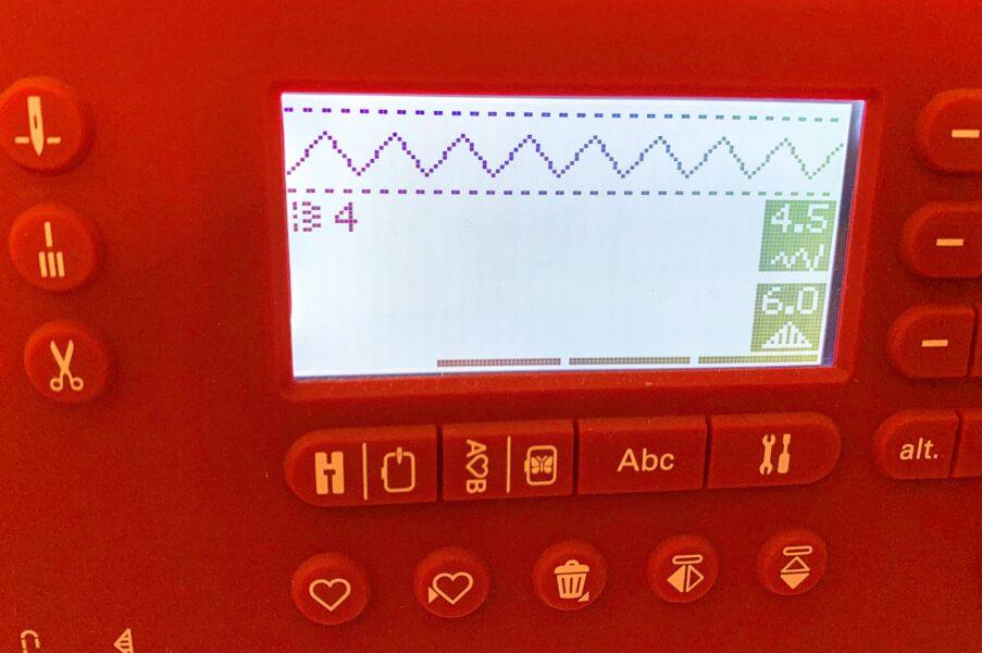 refashionista zigzag stitch machine setting