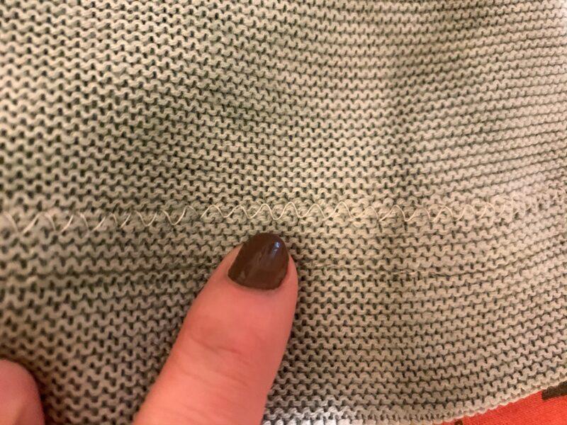 refashionista bowl dyed sweater zigzag stitch