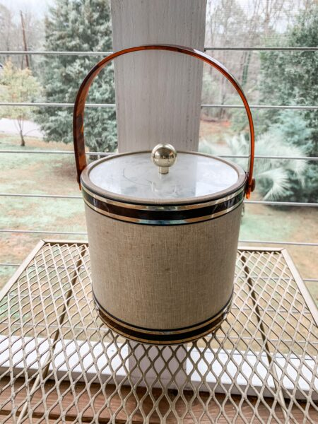 refashionista vintage ice bucket before upcycle