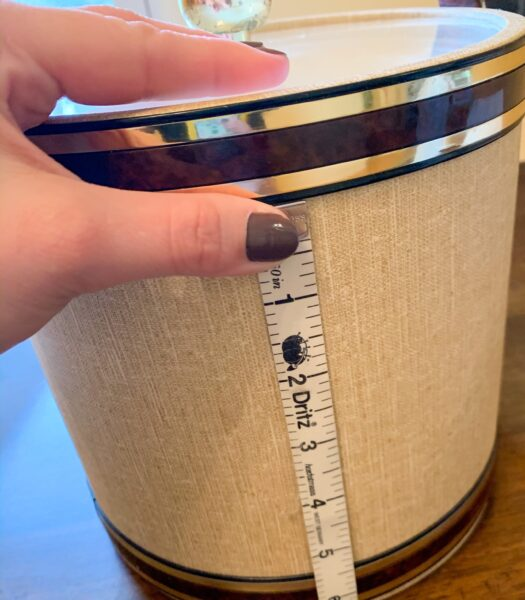 measuring ice bucket for upcycle