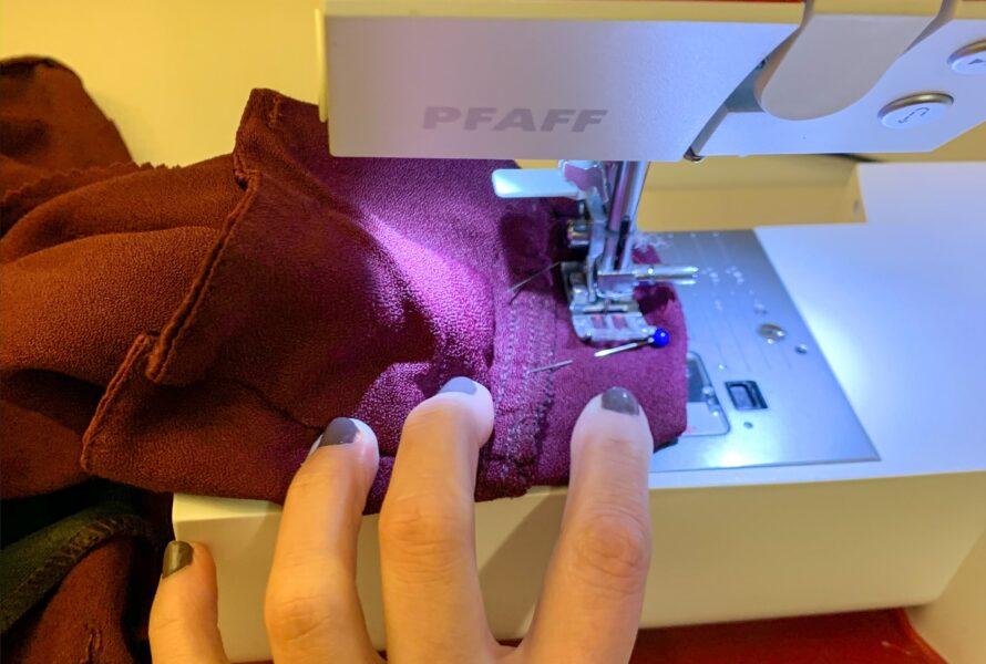 refashionista altering blazer sleeve