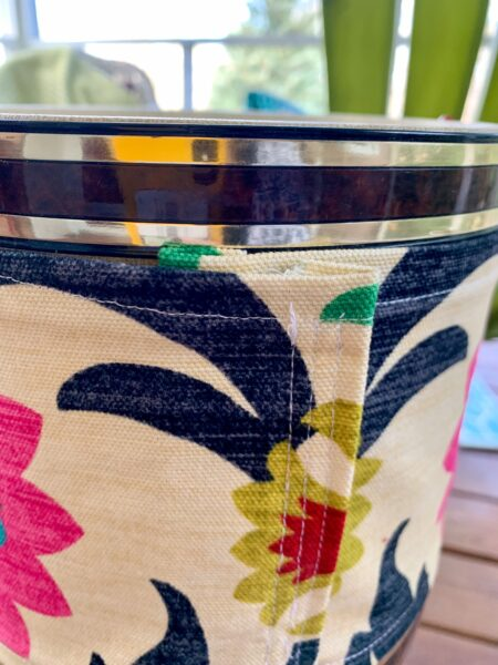 refashionista diy upcycled ice bucket back