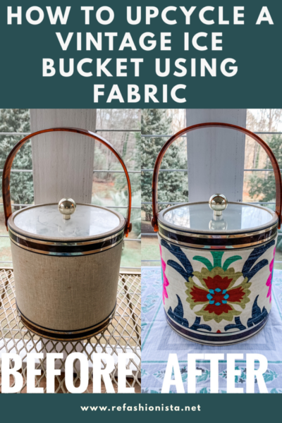 Refashionista's DIY Upcycled Ice Bucket