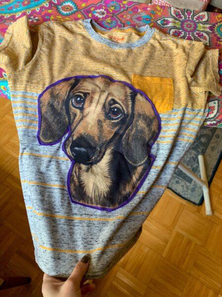 Darling Dachshund Applique T-Shirt Refashion 3