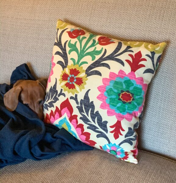 refashionista fabric scrap pillow