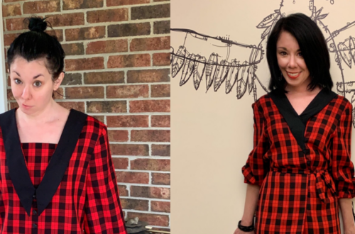 A Rad Plaid Refashion: How to Take In a Dress From the Front 3