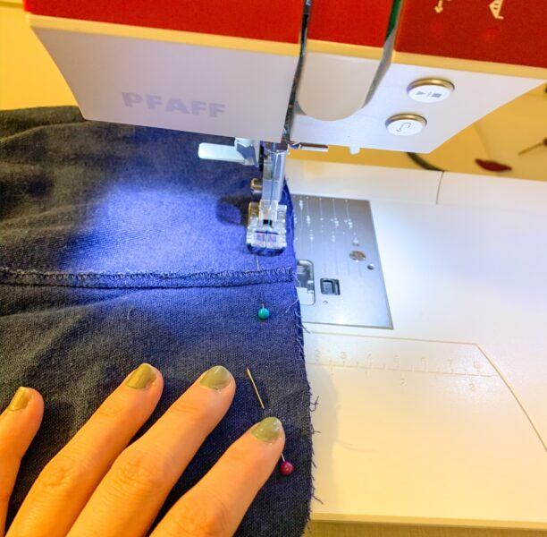 sewing skirt to top for dress