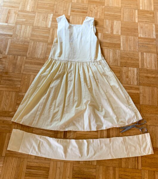 removing hem from dress