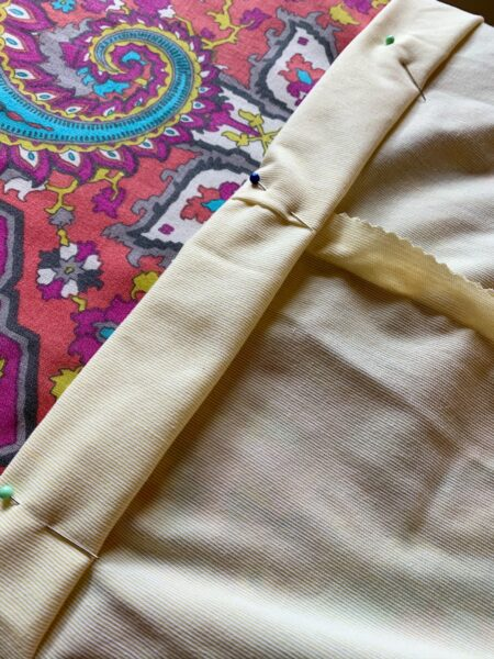 pinning hem for dress