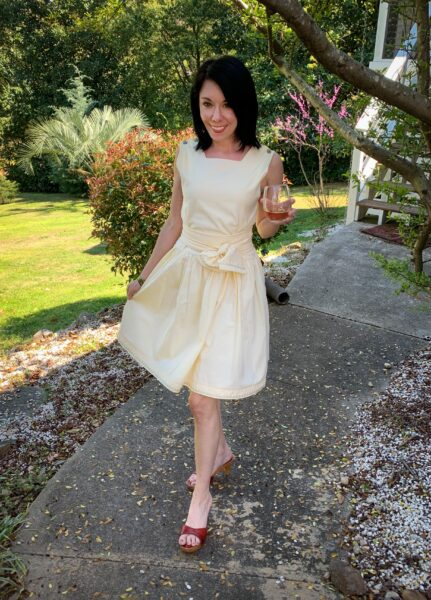 An '80s Jumper to '50s-Inspired Dress Refashion after