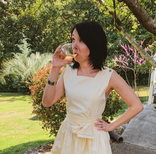 refashionista drinking Rosé
