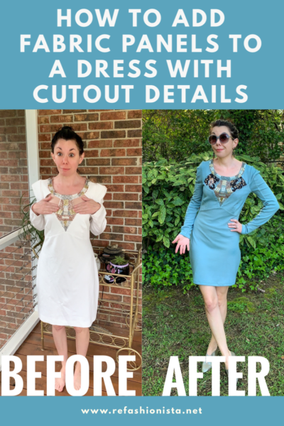 Refashionista Cut Out Dress Before and After Pinterest