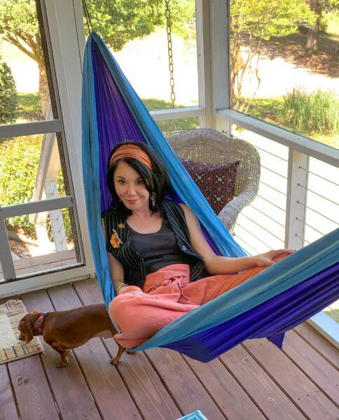 refashionista thrift store style in hammock