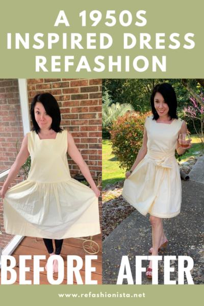 1950s Inspired Dress Refashion