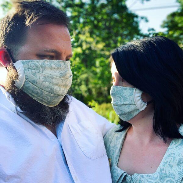 Matching couples DIY face masks