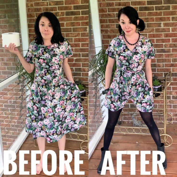 DIY Romper from Dress