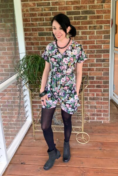 DIY romper from dress after