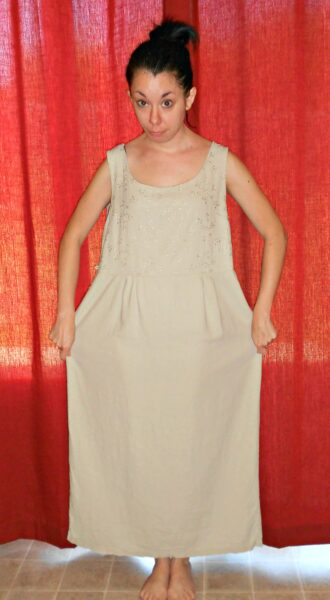 Rally for the Arts: A Sleeveless to Strapless Dress Refashion 2