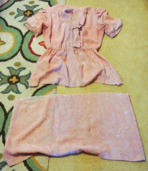bottom part of skirt being cut off