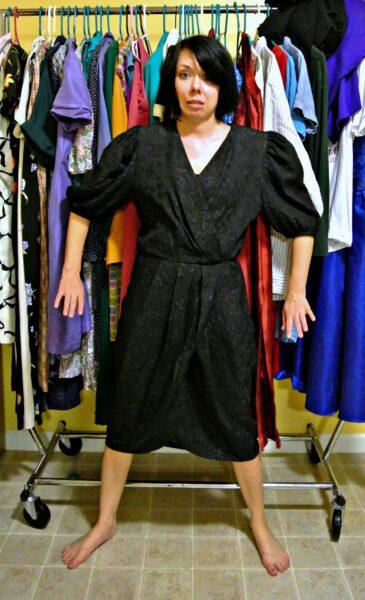 80s dress refashion before