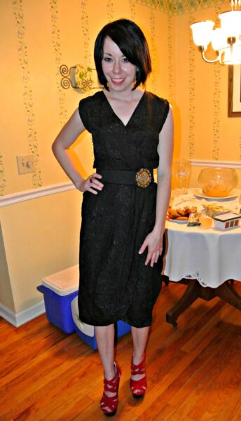 '80s dress refashion after