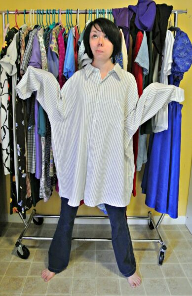 oversized mens shirt for shirt to dress refashion