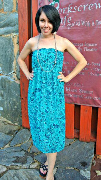 strapless dress refashion after