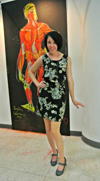 dress sewn with serger