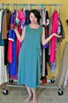 A T-Shirt Appliqué Dress Refashion Before