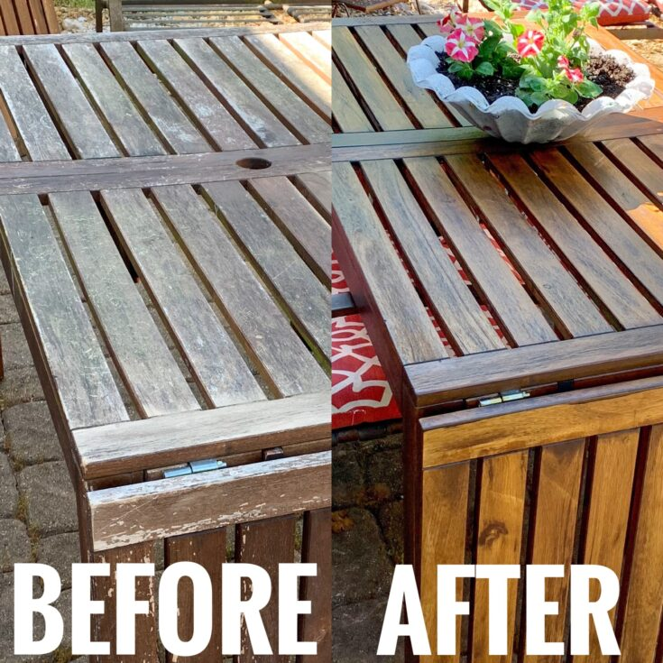 How to refinish outdoor furniture before and after