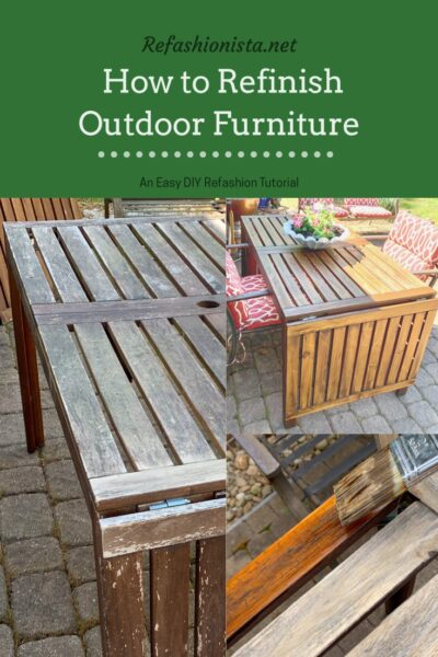 How to Refinish Outdoor Wood Furniture Pin 1