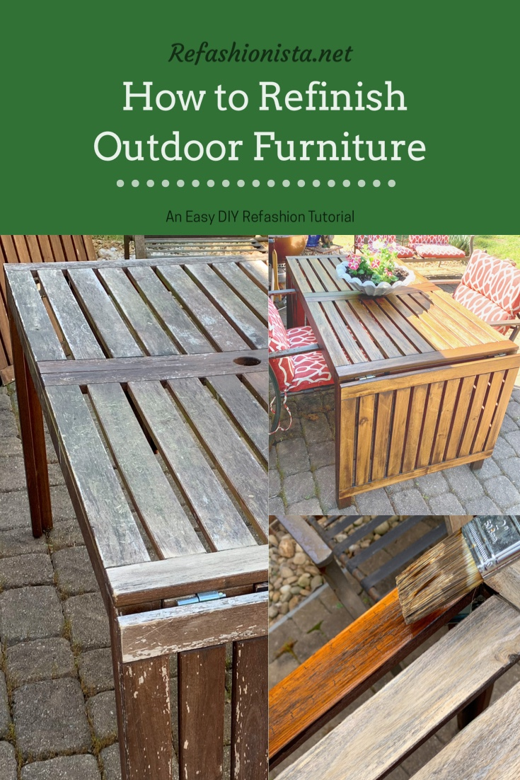 How to Refinish Outdoor Wood Furniture in 2 Easy Steps [2021 Update!] 2