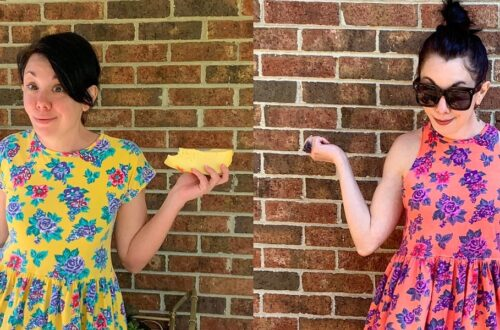 An Overdyed Floral Halter Dress DIY Refashion 4