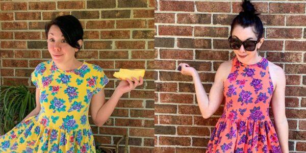Overdyed Floral Halter Dress DIY Refashion