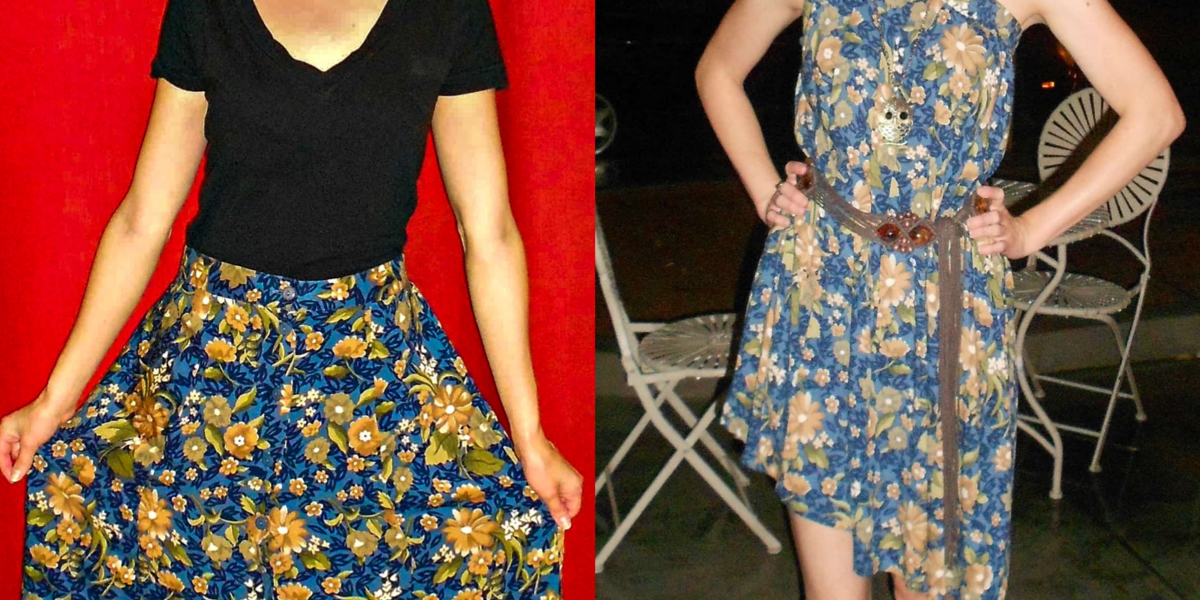 A No-Sew Skirt to Dress Refashion for the Final Karaoke Explosion 2