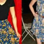 A No-Sew Skirt to Dress Refashion for the Final Karaoke Explosion