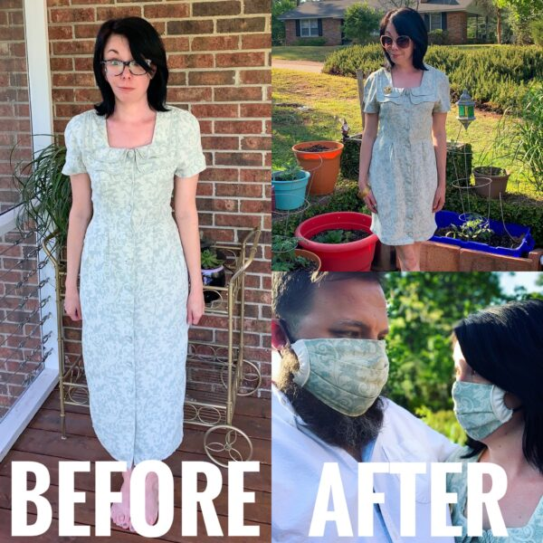 How to Make a Face Mask to Match Your Refashioned Dress (Without a Pattern)
