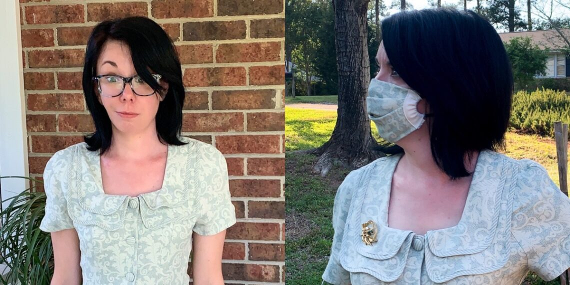 Easy Sew Face Mask (& Optional Matching Dress) 1