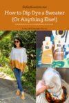Sweater Dip Dye Tutorial