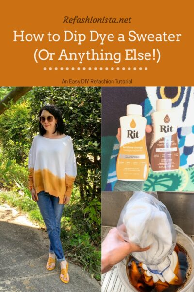 Sweater Dip Dye Tutorial