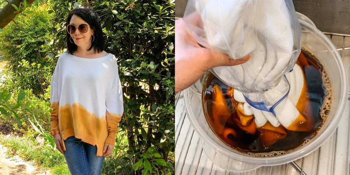 How to Dip Dye a Sweater (or any Fabric!) 1