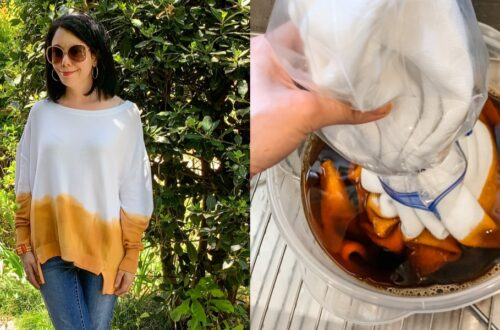 How to Dip Dye a Sweater (or any Fabric!) 14